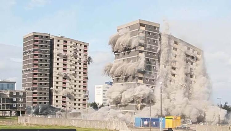 تخریب ساختمان به روش مواد منفجره