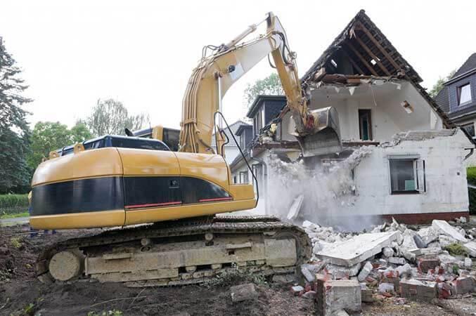 تخریب بتن برای ساخت بنای جدید