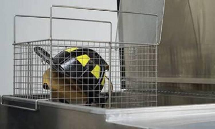 Washing firefighting equipment