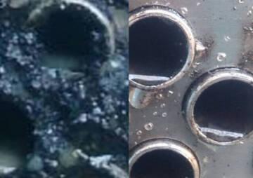 تمیز کردن لوله و مبدل آلوده به کک نفتی