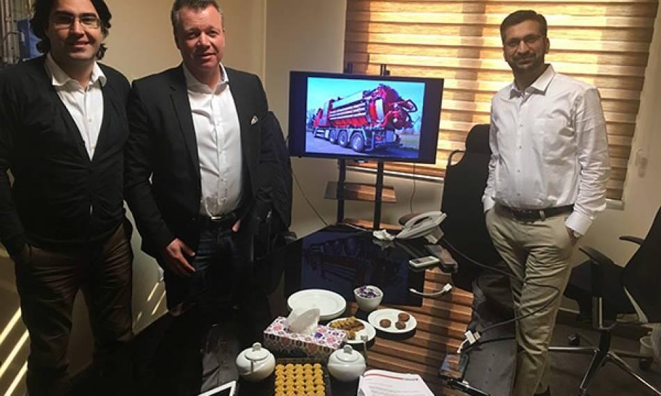 حضور نمایندگان شرکت دیسب سوئد در ایران