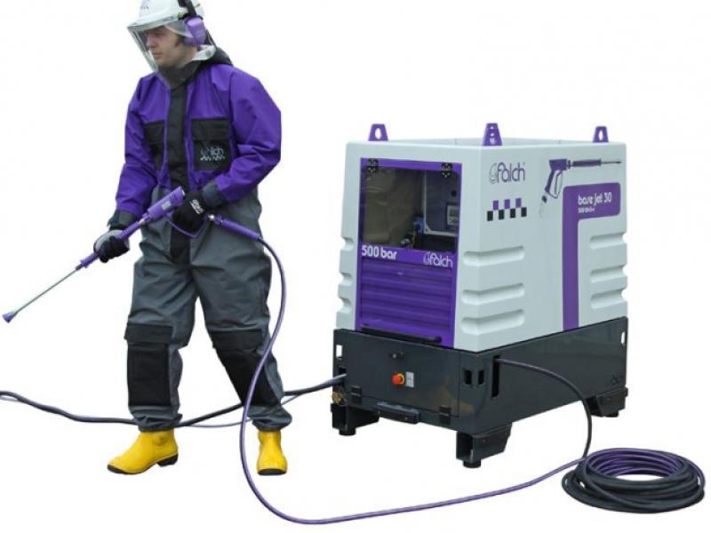 واترجت g583  یک واتر جت صنعتی کارآمد برای نظافت صنعتی سریع