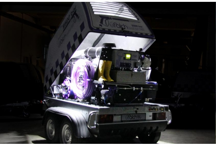 نمای داخل واترجت g555 در شب