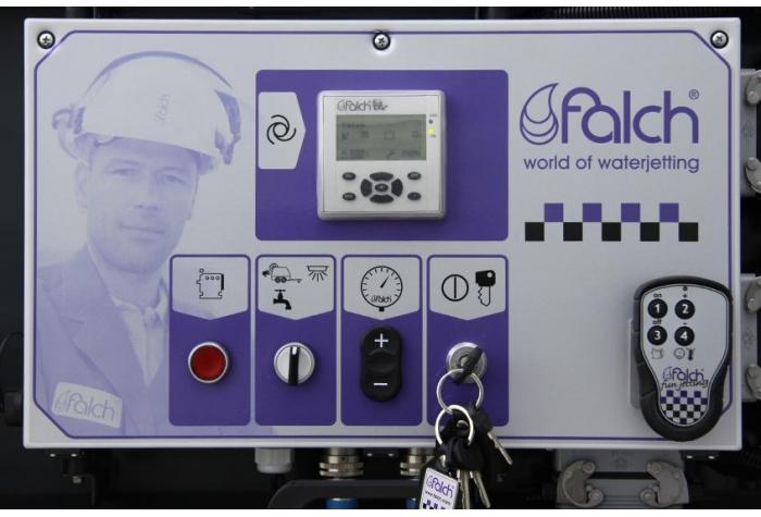 کلیدهای کنترل گر دستگاه واتر جت صنعتی آب سرد g574