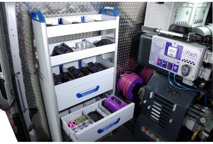 واترجت g376 مجهز به قفسه و کمد برای نگهداری لوازم جانبی