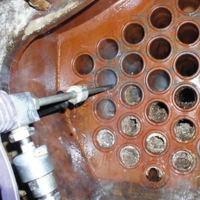 شستشوی مبدل حرارتی با واترجت فشارقوی، نتیجه باورنکردنی از نظافت مبدلها